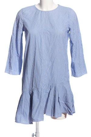 Zara Trafaluc Vestido estilo flounce azul-blanco estampado a rayas look casual