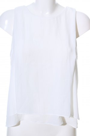 Zara Trafaluc Top con balze bianco stile professionale