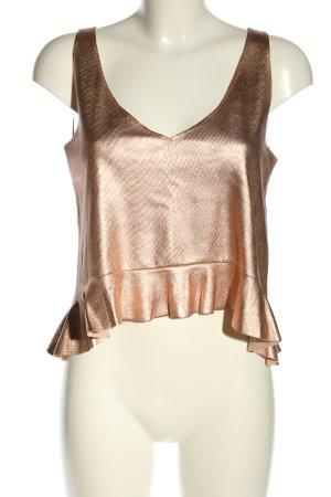 Zara Trafaluc Flounce Top gold-colored elegant
