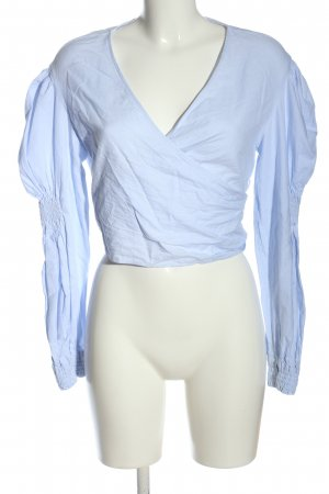 Zara Trafaluc Wraparound Blouse blue casual look