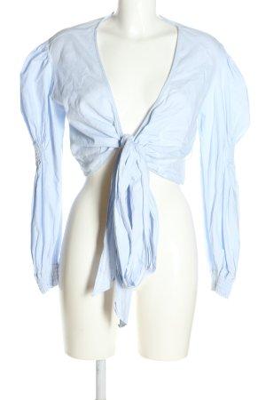 Zara Trafaluc Wickel-Bluse blau Casual-Look