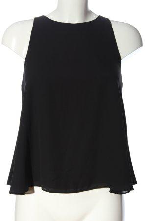 Zara Trafaluc Blusa cruzada negro elegante