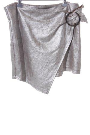 Zara Trafaluc Falda cruzada color plata elegante