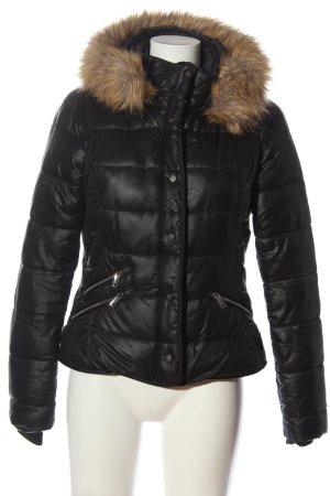 Zara Trafaluc Winterjacke schwarz Steppmuster Casual-Look