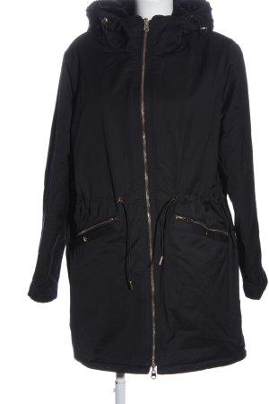Zara Trafaluc Chaqueta de invierno negro look casual