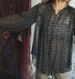 Zara Bluzka tunika czarny