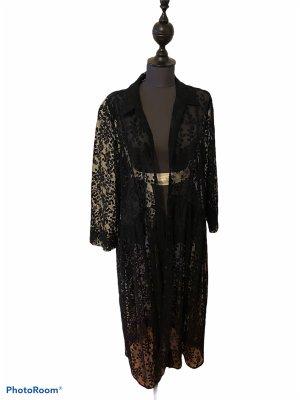 Zara Gabardina tipo vestido negro