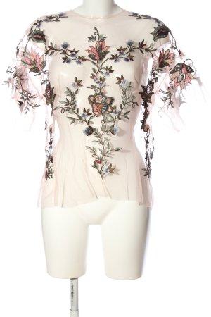 Zara Transparenz-Bluse Blumenmuster Casual-Look