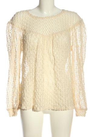Zara Transparenz-Bluse creme Casual-Look