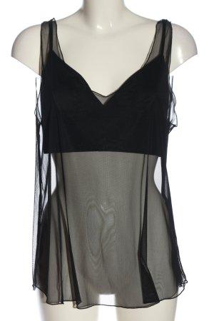 Zara Transparenz-Bluse schwarz Elegant