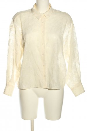 Zara Transparenz-Bluse creme Business-Look