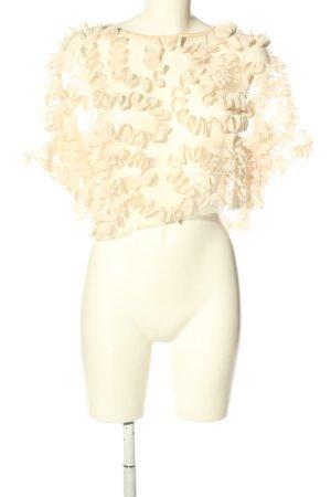 Zara Transparenz-Bluse creme Elegant
