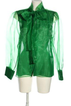 Zara Transparenz-Bluse grün extravaganter Stil