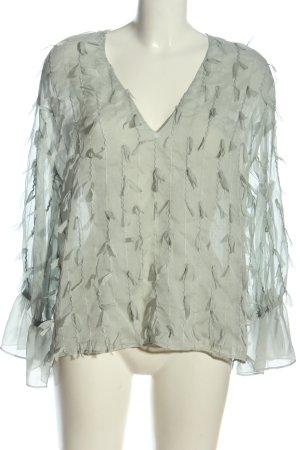 Zara Transparenz-Bluse hellgrau Casual-Look
