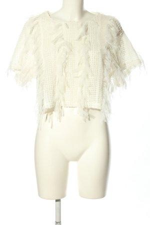 Zara Blusa transparente blanco look casual