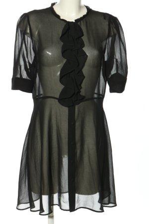 Zara Transparenz-Bluse khaki Elegant