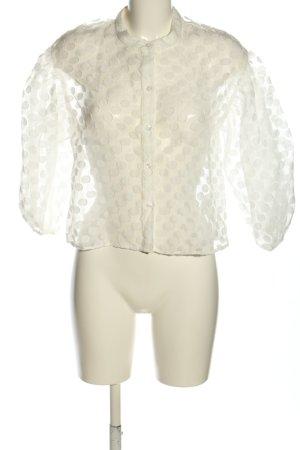 Zara Blouse transparente blanc cassé motif de tache élégant