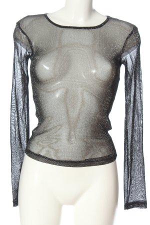Zara Netshirt zwart casual uitstraling