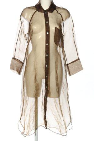 Zara Transparenz-Bluse braun extravaganter Stil