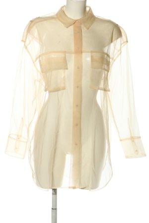 Zara Transparenz-Bluse creme klassischer Stil