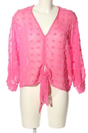 Zara Transparenz-Bluse pink Casual-Look