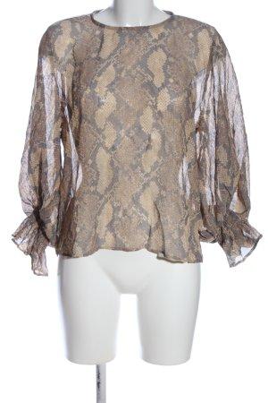Zara Transparante blouse dierenprint casual uitstraling