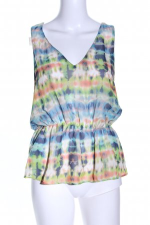 Zara Transparenz-Bluse abstraktes Muster Casual-Look
