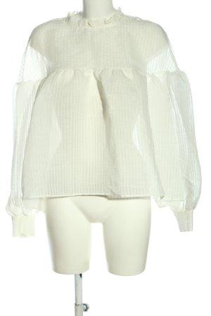 Zara Transparenz-Bluse weiß Business-Look