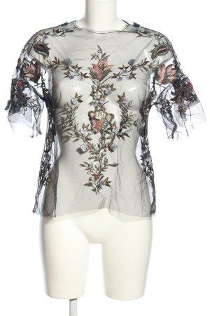 Zara Transparenz-Bluse Blumenmuster Elegant