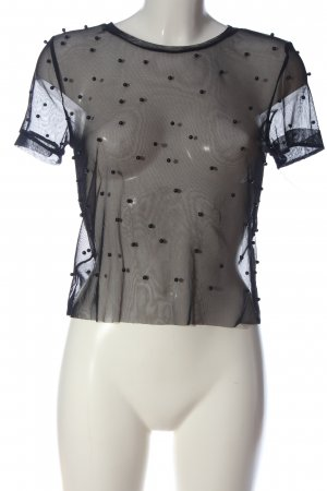 Zara Transparenz-Bluse schwarz Casual-Look