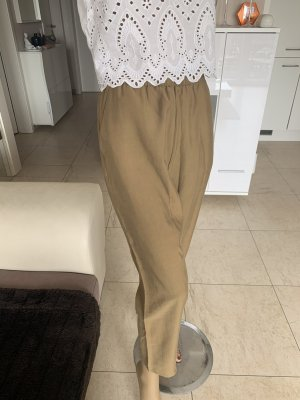 Zara Baggy Pants ocher-olive green