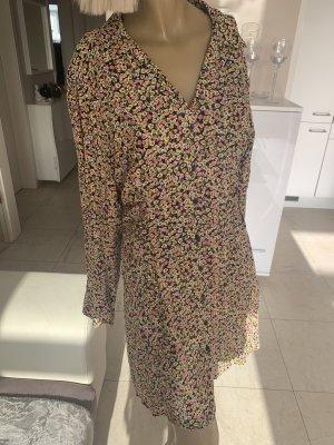 Zara Traum Kleid .. Minikleid .. N-Neck .. geblümt .. Gr. L/XL .. Neu .. blogger