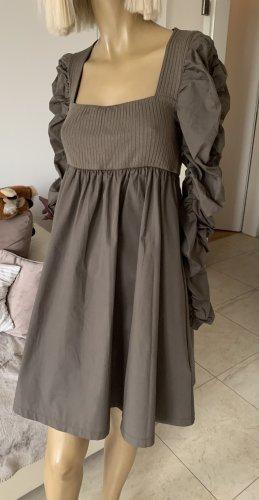 ZARA Traum Kleid Minikleid Raffungen Nerzbraun Gr. M Neu Blogger