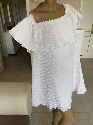 Zara Traum Kleid .. Plissee Kleid .. Volant .. weiß Gr. L .. Neu