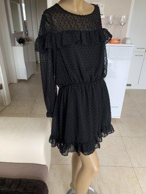 Zara Traum Kleid .. Plumetis-Kleid .. Volant .. schwarz .. Gr. L/XL .. wNeu .. blogger