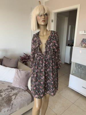 Zara Chiffon jurk veelkleurig