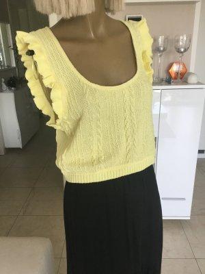 Zara Cardigan à manches courtes jaune primevère-jaune clair
