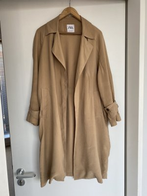 Zara Trenchcoat beige Creme L 40 Sommer Jacke Mantel