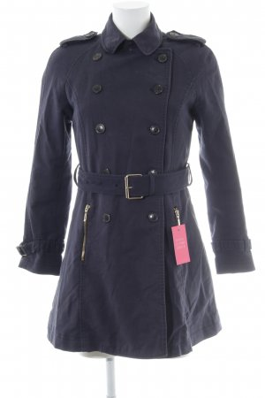 Zara Trenchcoat dunkelblau Casual-Look