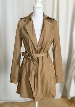 ZARA Trenchcoat gold beige Regenmantel Mantel Jacke Regenjacke XS