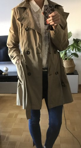 Zara Basic Trench color cammello Cotone