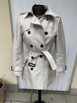 Zara Trench bianco sporco-beige chiaro