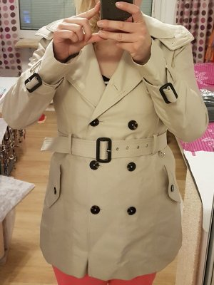 Zara Trenchcoat, Jacke, beige XL, Damenjacke, Kurzmantel