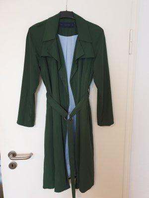 Zara Basic Trench Coat forest green