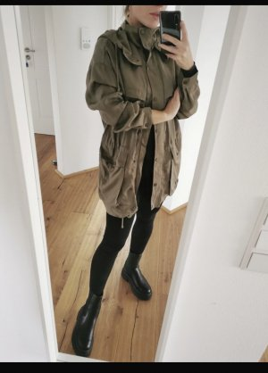 Zara Trenchcoat Mantel Khakigrün Neu 34 xs