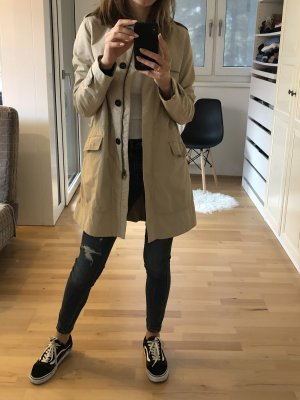 Zara Trench beige chiaro-crema