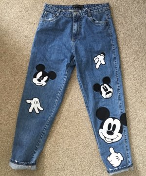 Zara TRF Jeans 38 Mickey Mouse