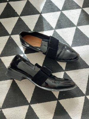 Zara TRF Loafer 39 38 Slipper Lack Schleife preppy