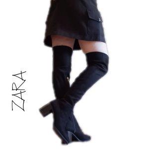 Zara Trafaluc Buty nad kolano czarny