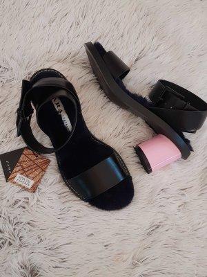 Zara TRF Special Edition Sandalen mit Plüschsohle und rosa Absatz Gr. 36/37